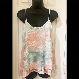 ❤️FUN & FLIRTY 2 Layer Lace Tank Top